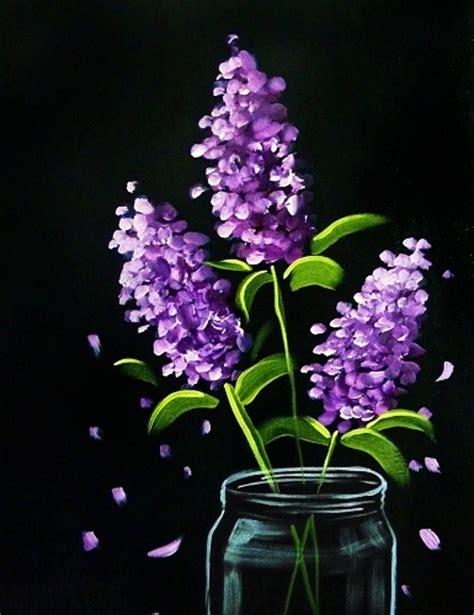 paint nite lilac bouquet