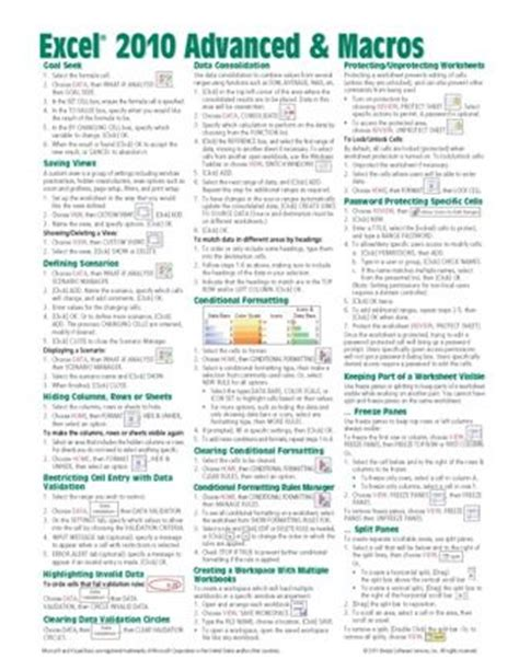 basic excel formulas cheat sheet excel 2010 advanced