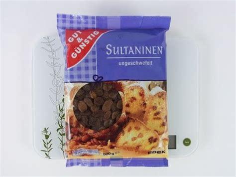 sultaninen rosinen gut und guenstig produktinfo