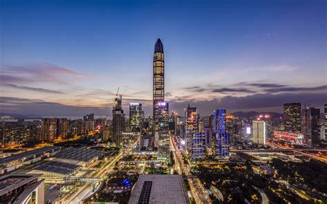 shenzhen landmark night view  high quality desktop preview wallpapercom