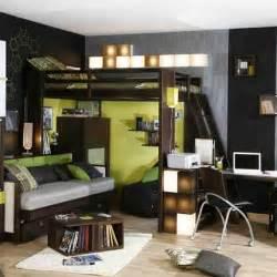 Chambre D Ado Garcon by Une Chambre D Ado Enti 232 Rement Noire Lit Mezzanine