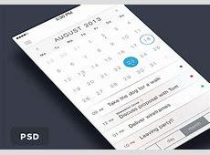 iOS7 Calendar PSD Freebiesbug