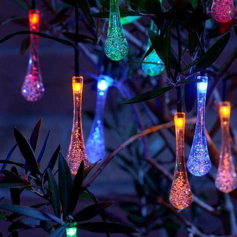 set   crystal ice drop led solar string lights