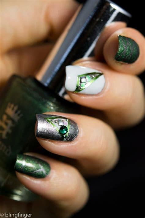 emerald green nail designs   copy fashionsycom