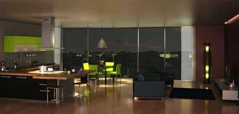 cuisine et salon nuit vertex in polygon