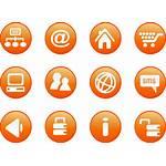Orange Marketing Icons Google Icon Cool