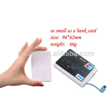 Card readers are powered by batteries and work independently of your computer. Mobile External Battery Ultra-thin Credit Card With Built-in Cable Power Bank Made In China ...