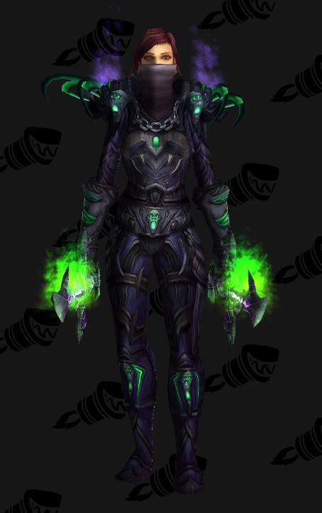 transmog sets rogue wow mask terrorblade lvl battlegear warcraft weapon rogues weapons ebon alt head scalpel agony unrelenting superhero batman