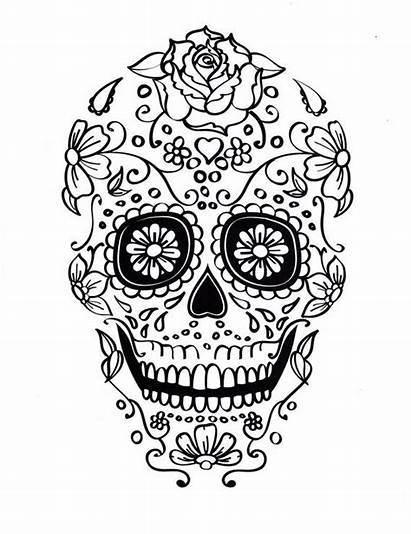 Skull Coloring Sugar Pages Printable Different Mexican