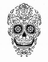 Skull Coloring Sugar Pages Printable Different Mexican Adult Skulls Five Colouring Etsy Scull Digital Candy Tattoo Sheet Within Collage Craft sketch template