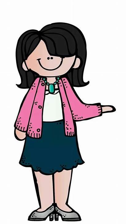 Melonheadz Maestra Clip Clipart Caricatura Teacher Teaching