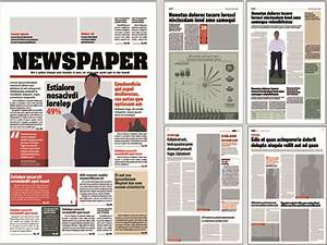 newspaper template free vector download 13071 free With adobe illustrator newspaper template