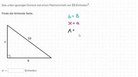 A Berechnen by Fehlende Seite Eines Dreiecks Berechnen Beispiel