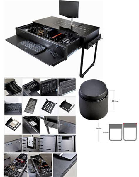 Lian Li Dk 02 Computer Desk by Lian Li Dk 02 Black Aluminum Computer Desk Computer