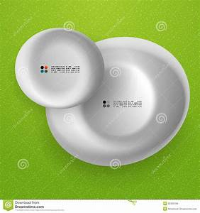 Vector White 3d Round Shapes Banner Stock Images - Image ...