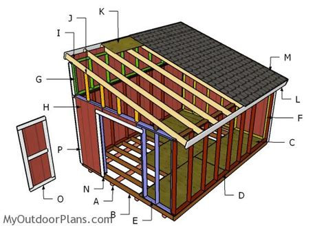 diy 12x16 storage shed plans 12x16 lean to shed plans myoutdoorplans free