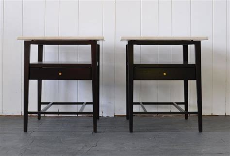 20 Inch Wide Nightstand by Pair Of Paul Mccobb Stands With Marble Tops At 1stdibs