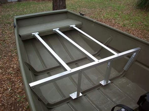 Jon Boat Deck Ideas by Decking Out A Jon Boat These Two Vertical Legs Were