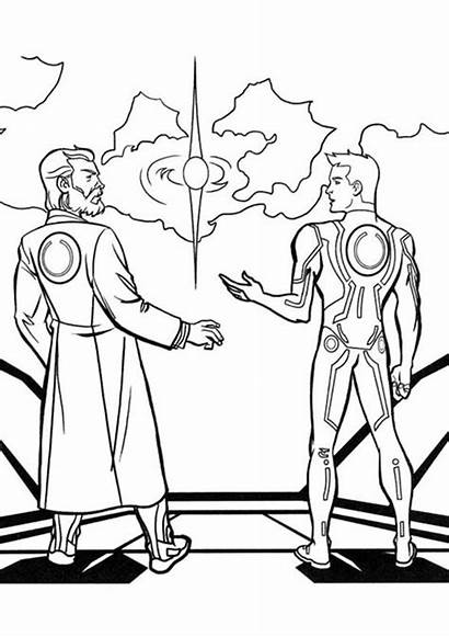 Coloring Pages Tron Sam Kevin Legacy Flynn
