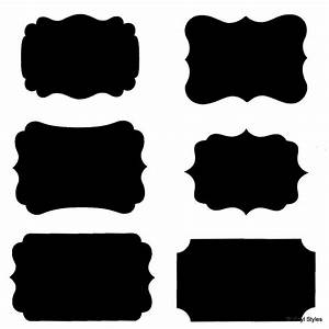 Black label clipart with outline - Clip Art Library