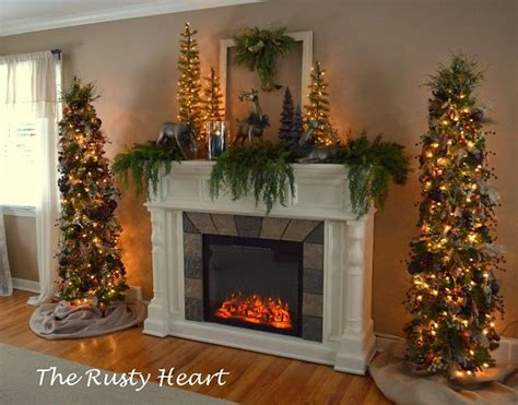 next christmas trees with lights best 25 fireplace ideas on mantle decorations