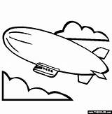 Coloring Airship Blimp Pages Template Hindenburg Zeppelin Airships Steampunk Printable Thecolor sketch template