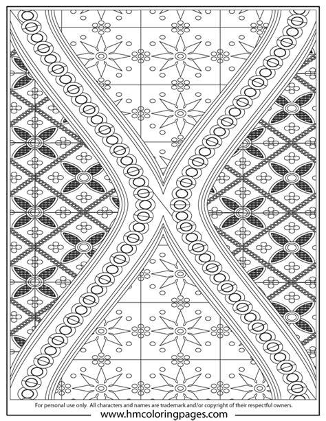 complex batik art design coloring page   coloring pages