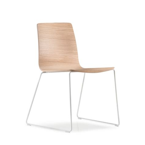 inga wood side chair sled base the chair factory