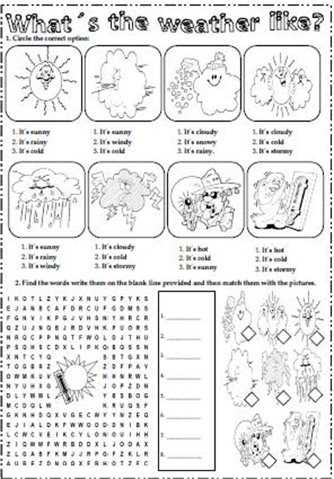 the weather elementary worksheet