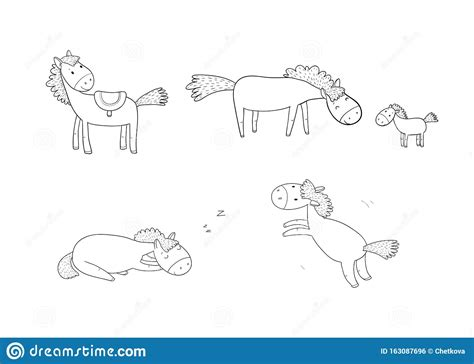 Freesvg.org offers free vector images in svg format with creative commons 0 license (public domain). Cute Cartoon Horse. Farm Animals. Funny Pony Stock Vector ...