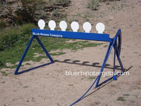 blue rhino steel shooting targets knockdown plate rack