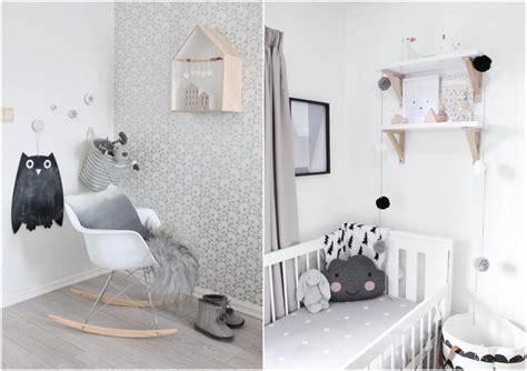 chambre bébé blanche et grise décoration chambre bébé garçon et fille jours de joie et