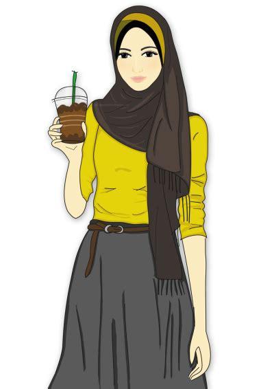 hijab animasi png gambar islami