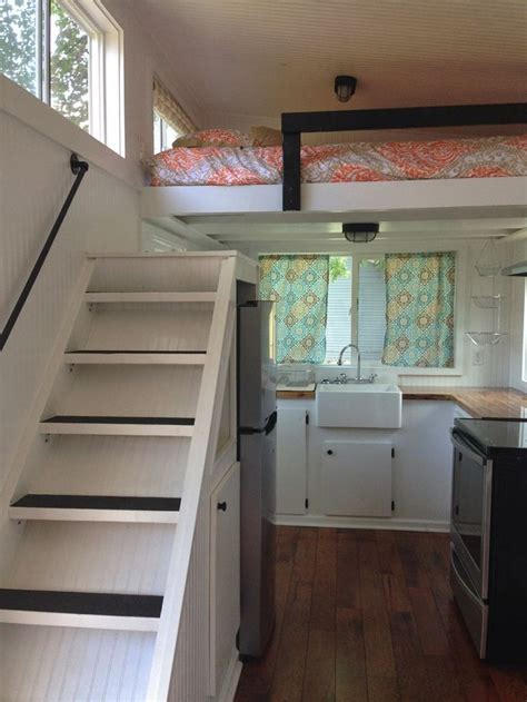 view   stairs  loft tiny house