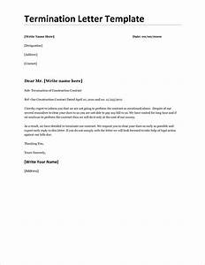 6 contract termination letter template timeline template With termination of employment contract template