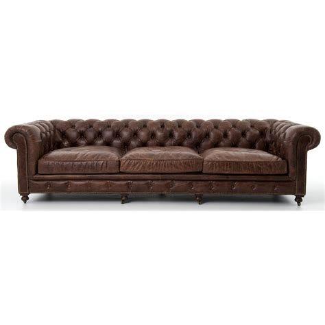 four hands carnegie sofa four hands carnegie conrad 118 quot sofa with cigar upholstery