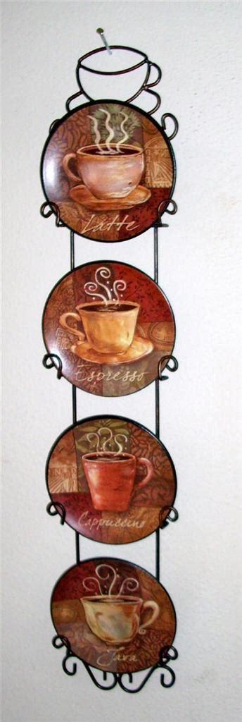 piece coffee house bistro cafe wall plate rack set decor interior kitchen home ebay