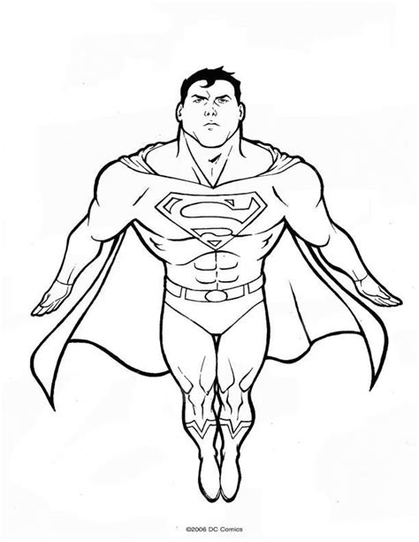 coloring pages superman picture