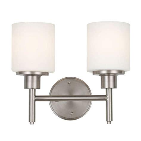 design house 2 light satin nickel indoor wall mount