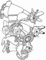 Easter Coloring Parade Brett Jan Janbrett Egg Eggs Sheets Animal Rabbit Colouring Printables Adult Holiday Subscription Downloads sketch template