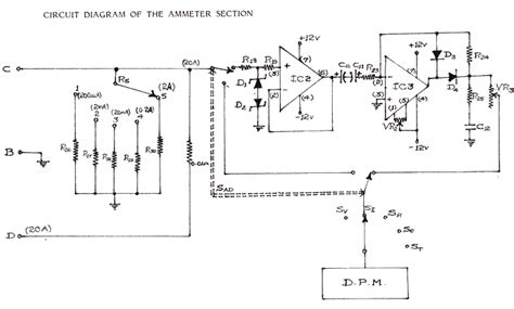 schematics of delabs ammeter and precision rectifier