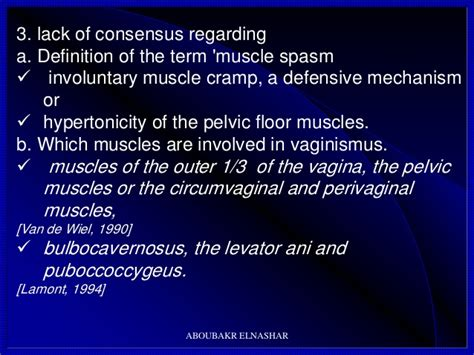 Hypertonic Pelvic Floor Muscles by Vaginismus