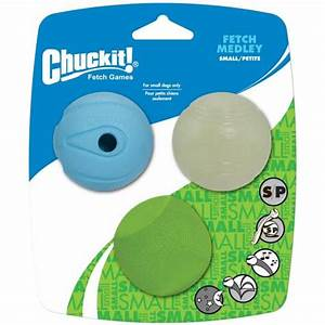 Chuckit fetch medley balls small 3pcs 48cm purely pet for Chuckit fetch medley