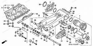 Honda Atv 2006 Oem Parts Diagram For Swingarm