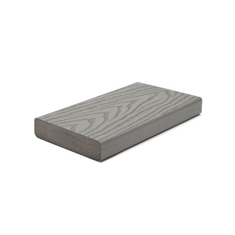 trex 16 ft select 2x6 composite capped square decking pebble grey the home depot canada
