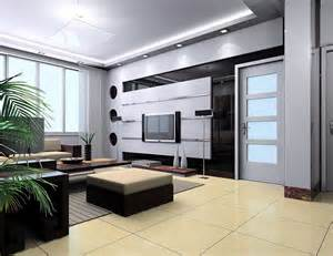 Feature wall in living room modern house