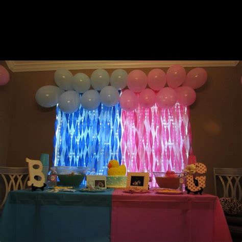 gender reveal decor 17 best images about gender reveal ideas on