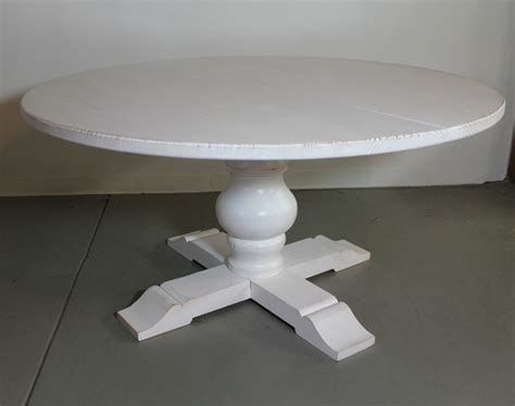 white wood round dining table white reclaimed wood round dining table farmhouse
