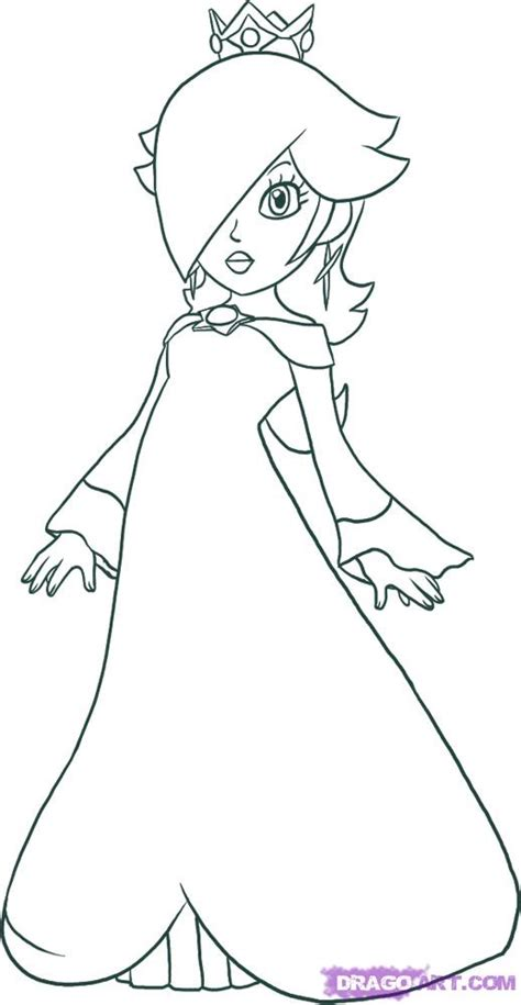 draw rosalina step  step video game characters