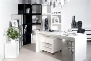 schreibtisch kare design white modern office desk